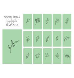 Social media highlights stories templates vector