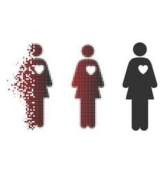 Sparkle pixel halftone mistress icon vector