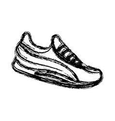 sports shoe icon vector image