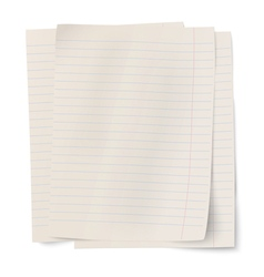 Stack of notebook paper sheets isolated on white vector