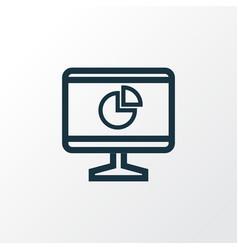 Statistics outline symbol premium quality vector