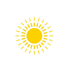 sun graphic design template isolated vector image