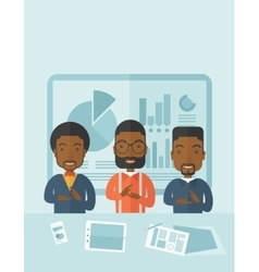 Three speakers clapping their hands vector