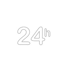time 24 hours flat icon vector image