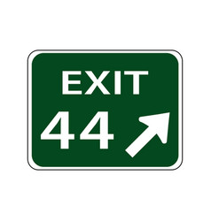 Usa traffic road signsan exit number vector