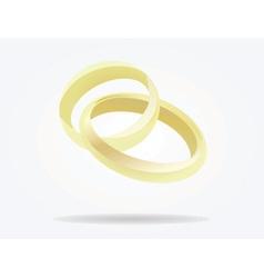 Weeding rings vector