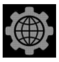 white halftone global options icon vector image