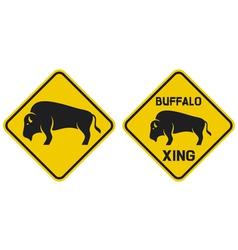 - warning buffalo sign vector image