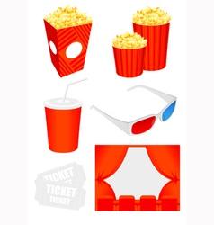Cinema icon collection vector image