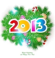 Happy new year 2013 design element vector image
