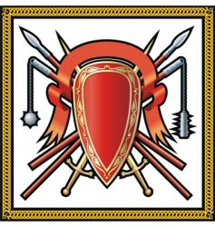medieval shield icons vector image vector image