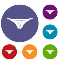 thongs icons set vector image