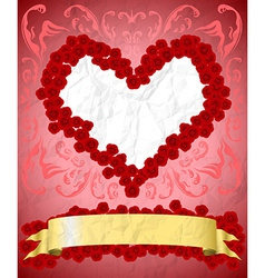 Vintage Valentines Day card vector image vector image