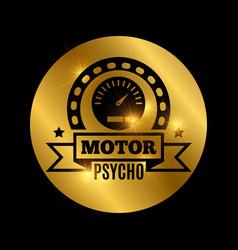 black moto emblem vector image vector image
