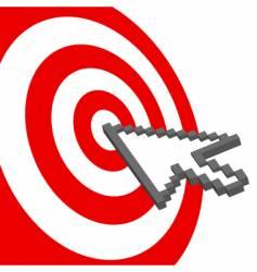 Bull's Eys target vector image vector image