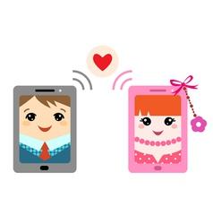 Valentine message vector image vector image