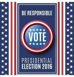 American Presidential Election 2016 vector image