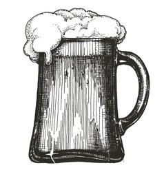 beer mug logo design template draught beer vector image