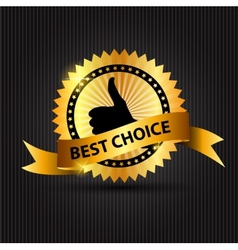 Best Choice Label with Ribbon vector image vector image