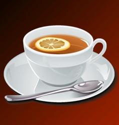 Cup off tee vector
