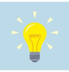 flat bulb vector image vector image