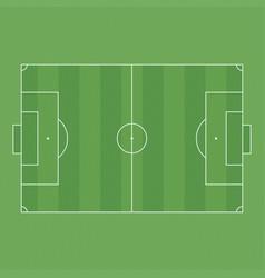 football or soccer field vector image