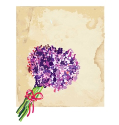 Greeting background with lilac vector image vector image