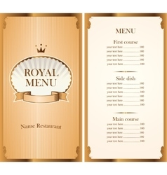 royal menu for a cafe or restaurant vector image vector image