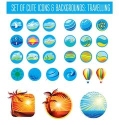 Set icons tReavel vector image vector image