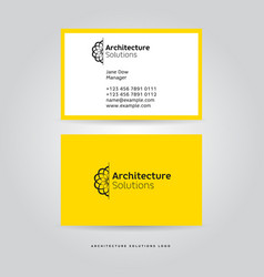 architectural logo and identity vector image