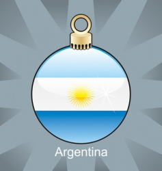 argentina flag on bulb vector image vector image