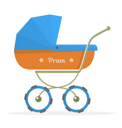 baby stroller isolated on white background vector image