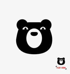 bear flat icon vector image