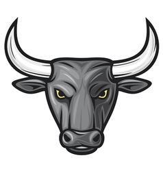 black bull head vector image vector image