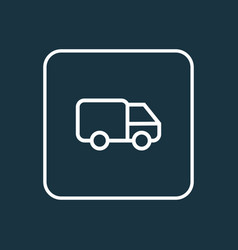 caravan outline symbol premium quality isolated vector image