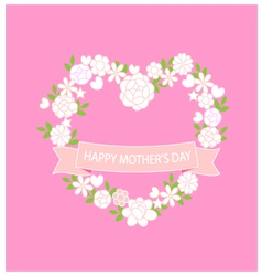 Card happy mother day vector image