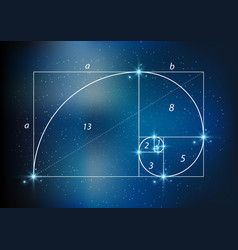 golden section ratio divine proportion vector image vector image