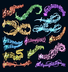 music note melody symbols vector image