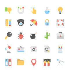 web design flat colored icons 2 vector image vector image