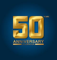 50 years anniversary celebration logotype golden vector image