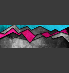 abstract bright grunge banner design vector image