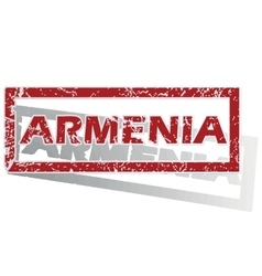 Armenia outlined stamp vector
