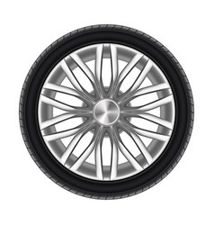 auto tyre or rubber wheel isolated on white vector image