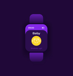 bawakes up smartwatch interface template vector image
