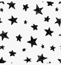 beautiful black and white seamless night sky vector image