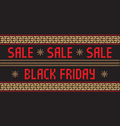 Black friday design with ethnic vector