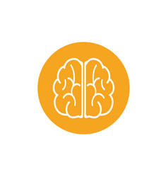 brain graphic design template isolated vector image