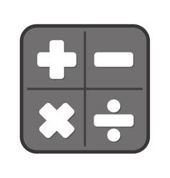 calculator app isolated icon vector image
