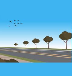 cartoon automobile highway vector image