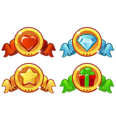 Cartoon colored icon design for game ui vector